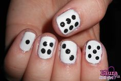 Dice Nails  View tutorial here http://www.youtube.com/watch?v=tvPDktcZdd4&feature=channel_video_title