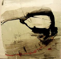 Maria Balea, 2009, acryl, indian ink, oil pastel on canvas, 70/80 cm