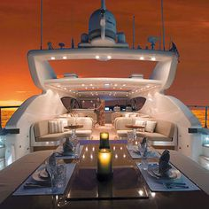 How about this luxury yacht for your honeymoon! Image via Chic Luxury. #luxuryyachts. Adventure | #MichaelLouis - www.MichaelLouis.com