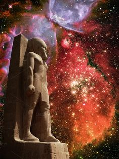 Ramses II and Butterfly Nebula by Xavier Fargas on Creative Market