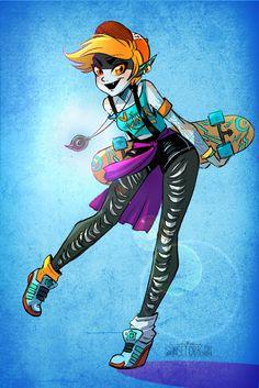 Midna Skater by Flying-Fox