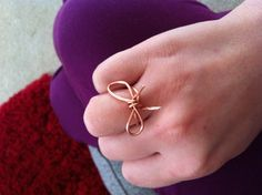 DIY Wire bow ring.