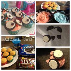 owl party ideas | owl cupcake tutorial