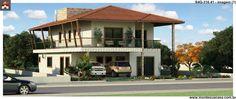 Planta de Sobrado - 4 Quartos - 316.41m² - Monte Sua Casa