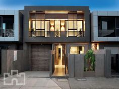 A brick house exterior from real Australian home - House Facade Modern Architecture House, Beautiful Architecture, Interior Architecture, Chinese Architecture, Futuristic Architecture, Facade Design, Exterior Design, Two Story House Design, Facade House