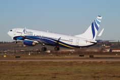 NordStar Boeing 737-800 tale off from Verona Airport
