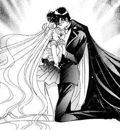 Sailor Moon and Tuxedo Mask I know, I know. Leave me alone!