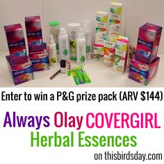 Enter to win an Always Radiant Prize Pack (ARV $130)