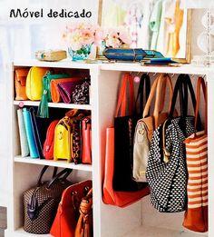 Ideias para organizar sapatos e bolsas - dcoracao.com - blog de decoração