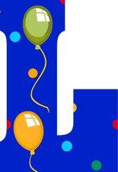 Image du Blog toutlalphabet2.centerblog.net Letter L, Different Fonts, Letter Balloons, Quilling Designs, Alphabet And Numbers, Stencils, Banner, Happy Birthday, Symbols