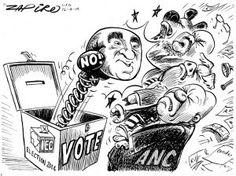 Zapiro: Ronnie Kasrils and the 2014 elections - Mail & Guardian Cartoons, Politics, Cards, Image, Cartoon, Cartoon Movies, Maps, Playing Cards, Comics And Cartoons