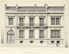 Elevation of a private residence, Paris
