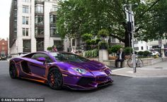 Problem: Pictured earlier in the day, the supercar understood to be owned by 24-year-old Nasser Al-Thani, of Qatar's ruling family, was also missing a front numberplate