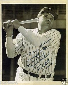 Babe ruth autographed #photograph - american #baseball legend #preprint,  View more on the LINK: http://www.zeppy.io/product/gb/2/371747211052/