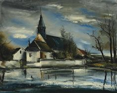 The Church over the Pond, 1930. Maurice de Vlaminck