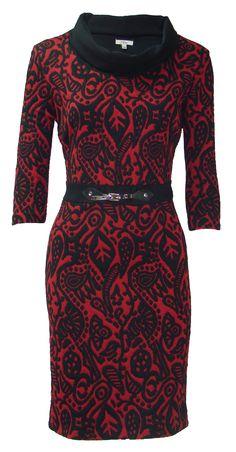 vestido de punto flocado de Jdos, perfecto para sentirte única a la vez que cómoda disponible en J´dos en varios colores