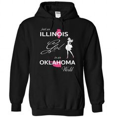 ILLINOIS GIRL IN OKLAHOMA WORLD - #oversized tshirt #big sweater. BEST BUY => https://www.sunfrog.com/LifeStyle/ILLINOIS_OKLAHOMA-Black-75896477-Hoodie.html?68278