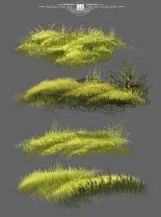 Foliage Brushes for Landscapes, Grass and Leaves of the MA-Brushes, MA Brushes - Painting Techniques Digital Painting Tutorials, Digital Art Tutorial, Art Tutorials, Somerset, Environment Concept Art, Landscape Paintings, Art Paintings, Abstract Paintings, Abstract Art