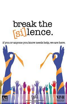 Self-Injury Awareness Poster Campaign by Amanda Roberts, via Behance