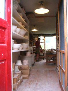 Enter Miranda Thomas' Pottery Studio at ShackletonThomas