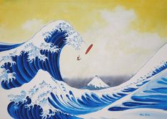 a36aa1ab0ffd Hokusai s The Great Wave off Kanagawa-inspired illustration Great Wave Off  Kanagawa