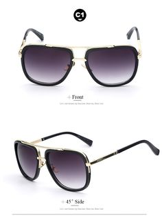 Large Frame Retro Vintage Fashion Sunglasses