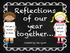 Need End of the Year prompts?  This is a great FREEBIE for your students to reflect on the school year!