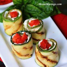 Menu Musings of a Modern American Mom: Grilled Zucchini Rolls
