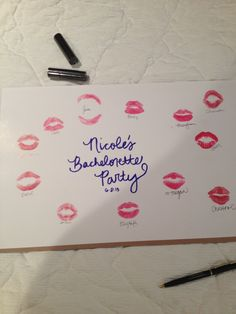 Cute gift to the bride at the end of the bachelorette party! Or sign a confidentiality agreement with kisses. #wedding #bridesmaid