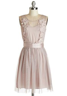 Fancy Factor Dress. This mauve party dress has the remarkable quality youre seeking. #pink #prom #wedding #bridesmaid #modcloth
