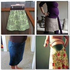 For all my prego friends out there that like to sew… this site has links to all sorts of tutorials that convert regular clothes to maternity clothes. There are pants, skirts, and tops… have fun!!!