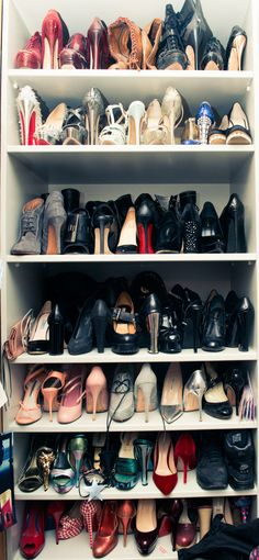 The model's epic shoe collection. http://www.thecoveteur.com/daisy-lowe-model/