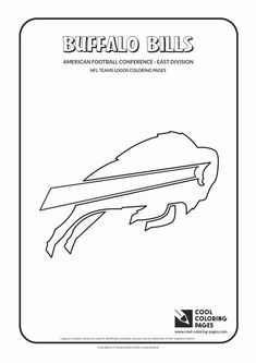 Cool Coloring Pages - NFL American Football Clubs Logos - American Football Conference - East Division / Buffalo Bills logo / Coloring page with Buffalo Bills logo Nfl Football Helmets, Football Team Logos, Free Football, Cool Coloring Pages, Coloring Pages To Print, Coloring Sheets, Football Coloring Pages, Buffalo Bills Logo, Football Conference