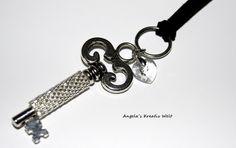 """Halskette """"Schlüssel mit Herz"""" von Angela`s Kreativ Welt auf DaWanda.com"""