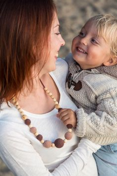 The Best Seller - Capuccino Nursing Necklace - Juniper Wood by KangarooCare on Etsy https://www.etsy.com/listing/95338544/the-best-seller-capuccino-nursing