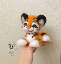Купить Тигренок Рыжее солнышко - рыжий, тигр, тигренок, тигренок вязаный, тигр игрушка