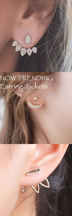 Cute Ear Piercing Ideas for the Minimalistic Chic at MyBodiArt.com - Ear Jacket Earrings Jewelry