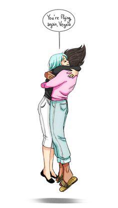(Dragonball Z) Bulma Briefs/Vegeta Dragon Ball Gt, Dragonball Super, Nerd Love, Anime Ships, Anime Love, Anime Couples, Manga Anime, Cartoon, Briefs