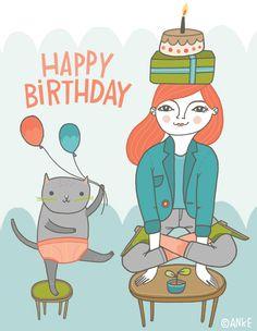 Yoga Birthday Yoga Pinterest Birthday Birthday Greetings And