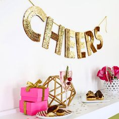 Today we're sharing our favorite garland, banners and tassels! This gold sequin banner is everything to {cheers} about!