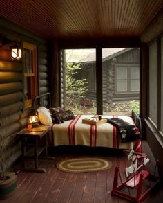 A bed in the screened in porch area would be perfect during the summer nights