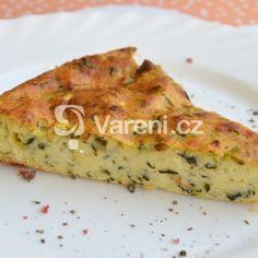 Fotografie receptu: Cuketový koláč se sýrem Quiche, Delena, Breakfast, Food, Morning Coffee, Essen, Quiches, Meals, Yemek