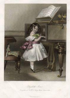 Elizabeth Jane Somerville playing pianoforte, 1849