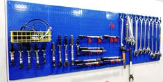 Wall Control's heavy-duty metal pegboard is ready for heavy-duty tool storage. Wall Control Metal Pegboard can handle a 3inch long box wrench, or a 32inch long box wrench. Wall Control metal pegboard is great for small tools and large tools alike! Thanks for the great customer photo Brendan from Fastenal!