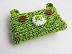 Crochet Kawaii Bear Phone Cosy - https://www.allfreecrochet.com/Crochet-Accessories/Crochet-Kawaii-Bear-Phone-Cosy #FaveCrafter