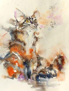 Watercolour on paper 35x45cm