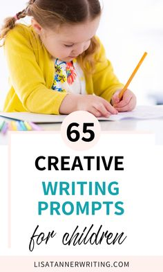 65 Creative Writing Prompts for Kids - Help your children improve their writing skills with these 65 creative writing prompts for kids! Creative Writing For Kids, Writing Prompts For Kids, Writing Promps, Writing Skills, Kids Activities At Home, Preschool At Home, Writing Activities, Kids Learning, School Children
