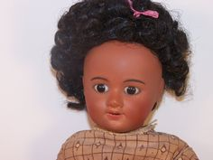 ANTIQUE FRENCH UNIS DOLL BISQUE HEAD BLACK DOLL 12.5 INCHES | eBay