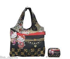 4e784b6c1a36 Hello Kitty Eco Bag Foldable - Kitty Hand Fan Sanrio x Dearisimo Collection  6113