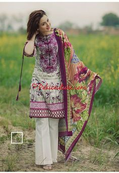 Firdous Korean Lawn 2017 With Price Full Catalogue Pakistani Formal Dresses, Pakistani Fashion Casual, Pakistani Dress Design, Pakistani Outfits, Indian Outfits, Indian Dresses, Indian Fashion, Kurta Designs, Casual Summer Dresses